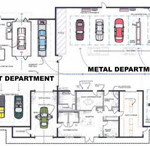 Steel Garages likewise Car Service Center Floor Plan together with Watch besides Process Product Fixed Position Layouts additionally Watch. on auto body shop layout plans